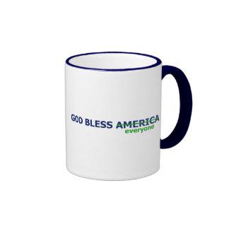 Dieu bénissent chacun mugs à café