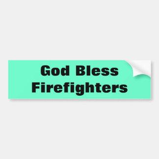 Dieu bénissent des sapeurs-pompiers autocollant de voiture