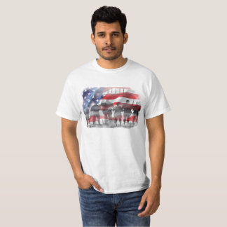 Dieu bénissent des soldats de l'Amérique sur le T-shirt