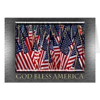 Dieu bénissent la carte de drapeaux de l'Amérique