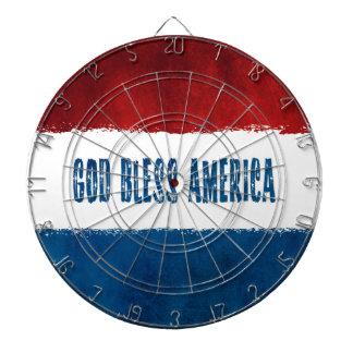 Dieu bénissent la cible patriotique de l'Amérique Jeu De Fléchettes