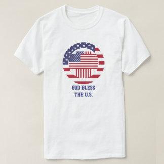 Dieu bénissent la croix americana des États-Unis T-shirt