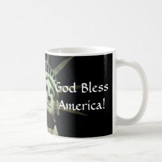 Dieu bénissent la liberté mug blanc