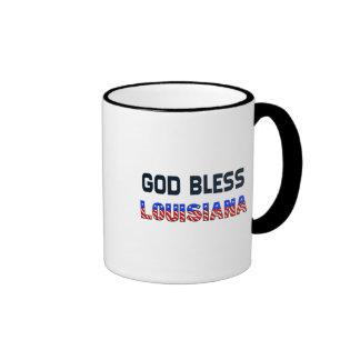 Dieu bénissent la Louisiane Tasses À Café