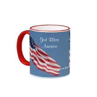 Dieu bénissent la tasse de l'Amérique