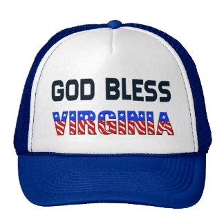 Dieu bénissent la Virginie Casquettes