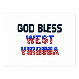 Dieu bénissent la Virginie Occidentale Carte Postale