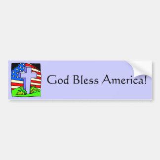 Dieu bénissent l'adhésif pour pare-chocs de l'Amér Adhésif Pour Voiture
