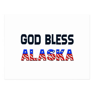 Dieu bénissent l'Alaska Cartes Postales