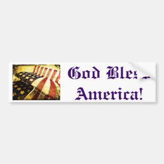 Dieu bénissent l'Amérique !  Adhésif pour pare-cho Autocollant De Voiture