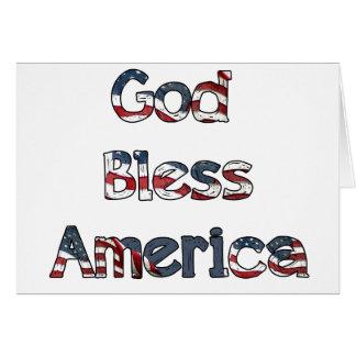Dieu bénissent l'Amérique Carte De Vœux