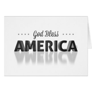 Dieu bénissent l'Amérique Cartes De Vœux