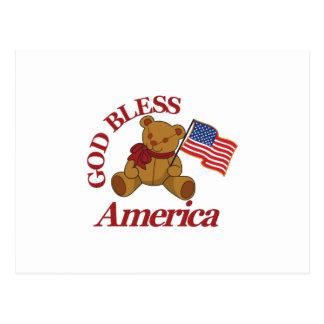 Dieu bénissent l'Amérique Carte Postale