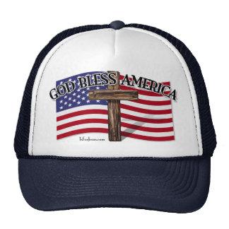 Dieu bénissent l'Amérique Casquettes