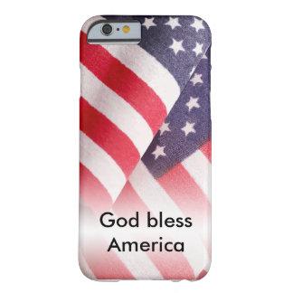 Dieu bénissent l'Amérique Coque iPhone 6 Barely There