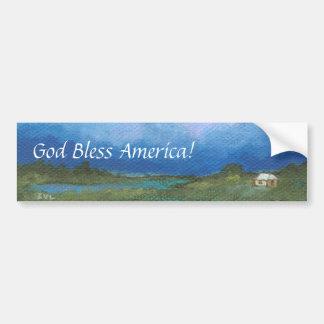 Dieu bénissent l'Amérique de la perspective intitu Autocollant De Voiture