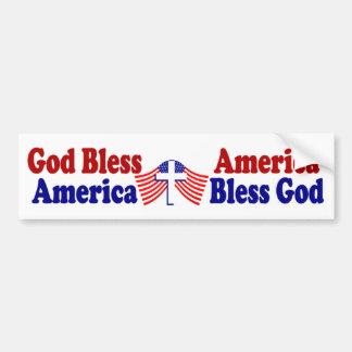 Dieu bénissent l'Amérique - l'Amérique bénissent D Autocollant De Voiture