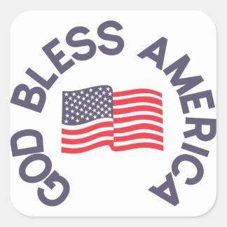 Dieu bénissent l'Amérique Sticker Carré