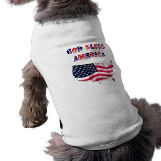 Dieu bénissent l'Amérique T-shirts Pour Chien