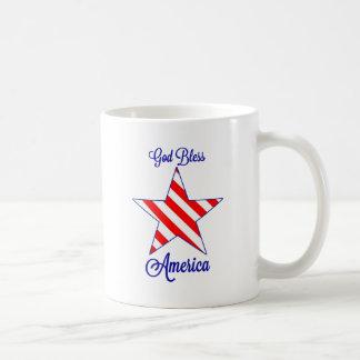 Dieu bénissent l'Amérique Tasse À Café