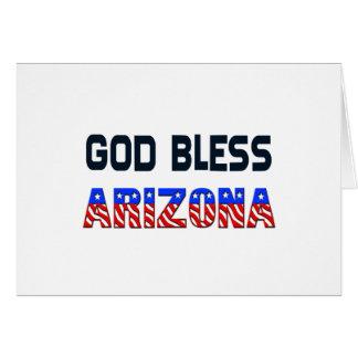 Dieu bénissent l'Arizona Carte De Vœux