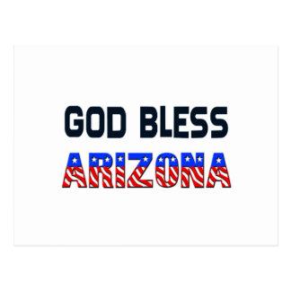 Dieu bénissent l'Arizona Carte Postale