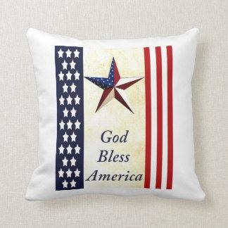 Dieu bénissent le carreau de l'Amérique Coussin Décoratif