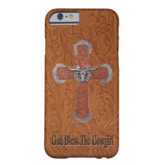 Dieu bénissent le cas de l'iPhone 6 de cuir de cow