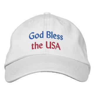 Dieu bénissent le casquette brodé par Etats-Unis Casquette Brodée