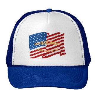 Dieu bénissent le chapeau de l'Amérique Casquettes De Camionneur