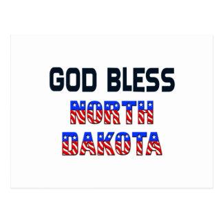 Dieu bénissent le Dakota du Nord Carte Postale