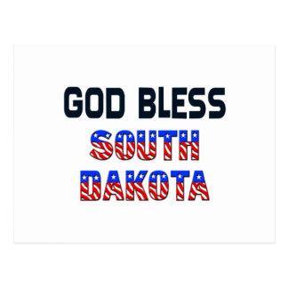 Dieu bénissent le Dakota du Sud Carte Postale