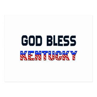 Dieu bénissent le Kentucky Carte Postale