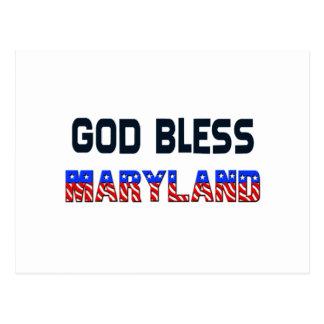 Dieu bénissent le Maryland Carte Postale