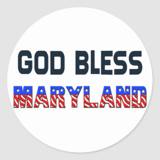 Dieu bénissent le Maryland Sticker Rond