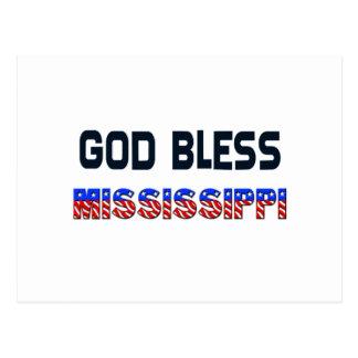 Dieu bénissent le Mississippi Cartes Postales