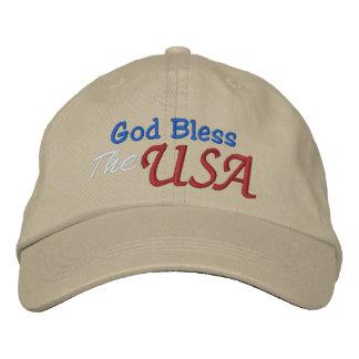 Dieu bénissent le modèle de casquette des chapeau brodé