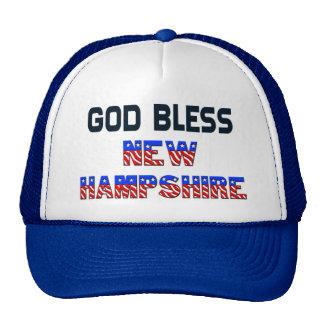 Dieu bénissent le New Hampshire Casquettes De Camionneur