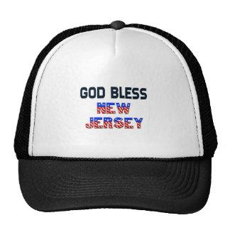 Dieu bénissent le New Jersey Casquettes De Camionneur