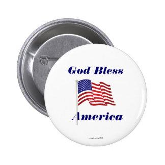 Dieu bénissent le Pin de bouton/revers de l'Amériq Macaron Rond 5 Cm