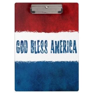 Dieu bénissent le porte - bloc de l'Amérique