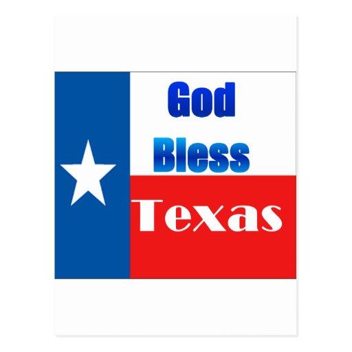Dieu bénissent le Texas Carte Postale