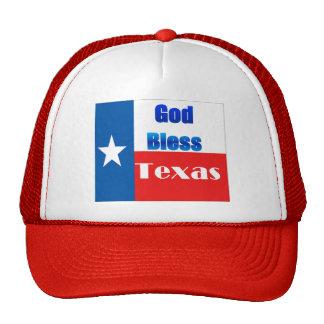 Dieu bénissent le Texas Casquettes De Camionneur