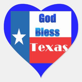 Dieu bénissent le Texas Sticker Cœur