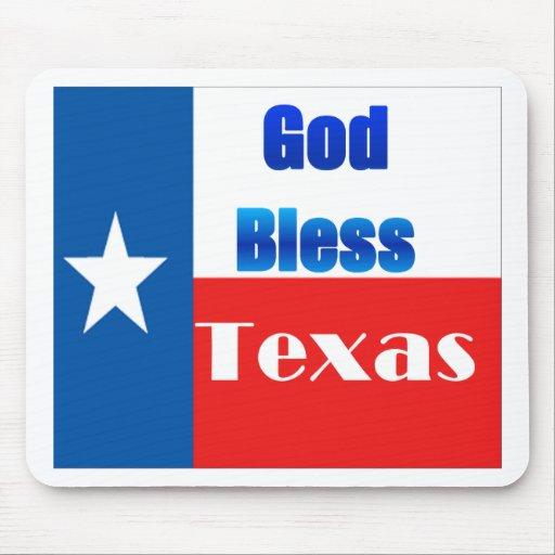 Dieu bénissent le Texas Tapis De Souris