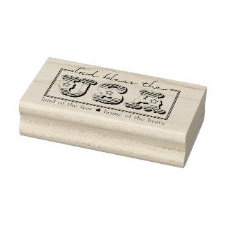 Dieu bénissent le timbre en caoutchouc patriotique
