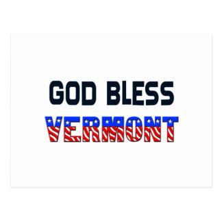 Dieu bénissent le Vermont Carte Postale