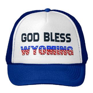 Dieu bénissent le Wyoming Casquettes