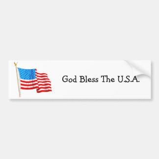 Dieu bénissent les Etats-Unis - adhésif pour pare- Autocollant De Voiture