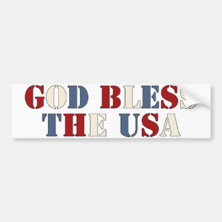 Dieu bénissent les Etats-Unis Autocollant De Voiture